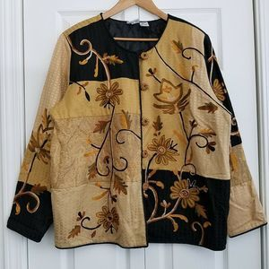 Market by Chico's Embroidered Jacket Size 3 Multi